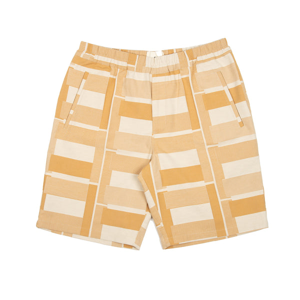 Drawcord Assembly Shorts - Marigold Jacquard