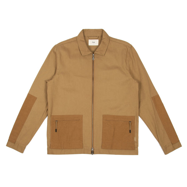 Overlay Jacket - Tan