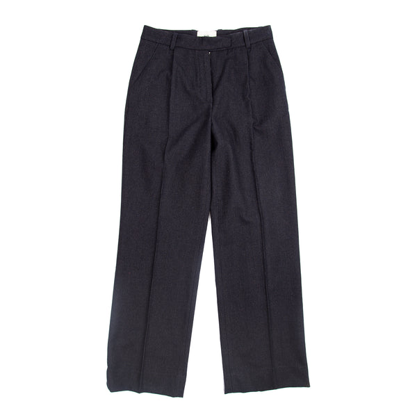 Long Wide Pant - Black Pinstripe