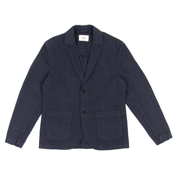 Cotton Linen Blazer - Summer Navy