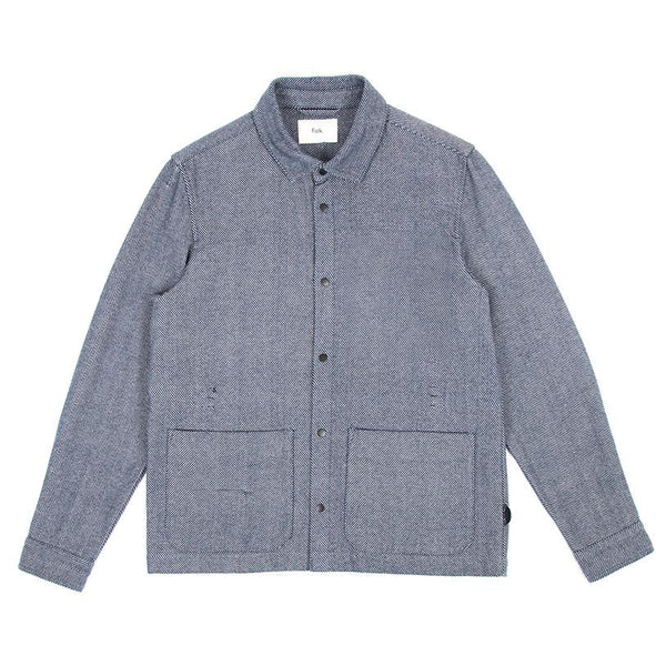 Painters Jacket - Navy Ecru Twill