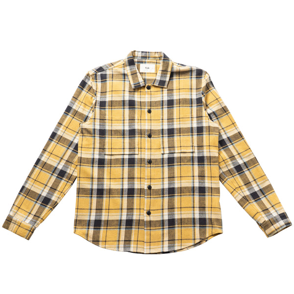Shirt Jacket - Gold Multicheck