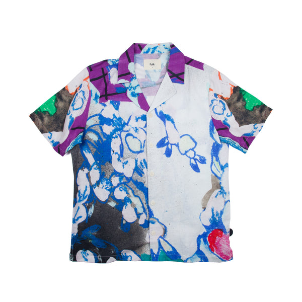 SS Soft Collar Shirt - Roller Print