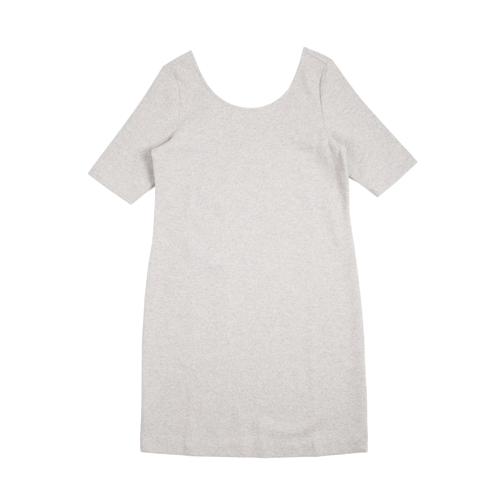 Scoop Back Dress - Grey Melange