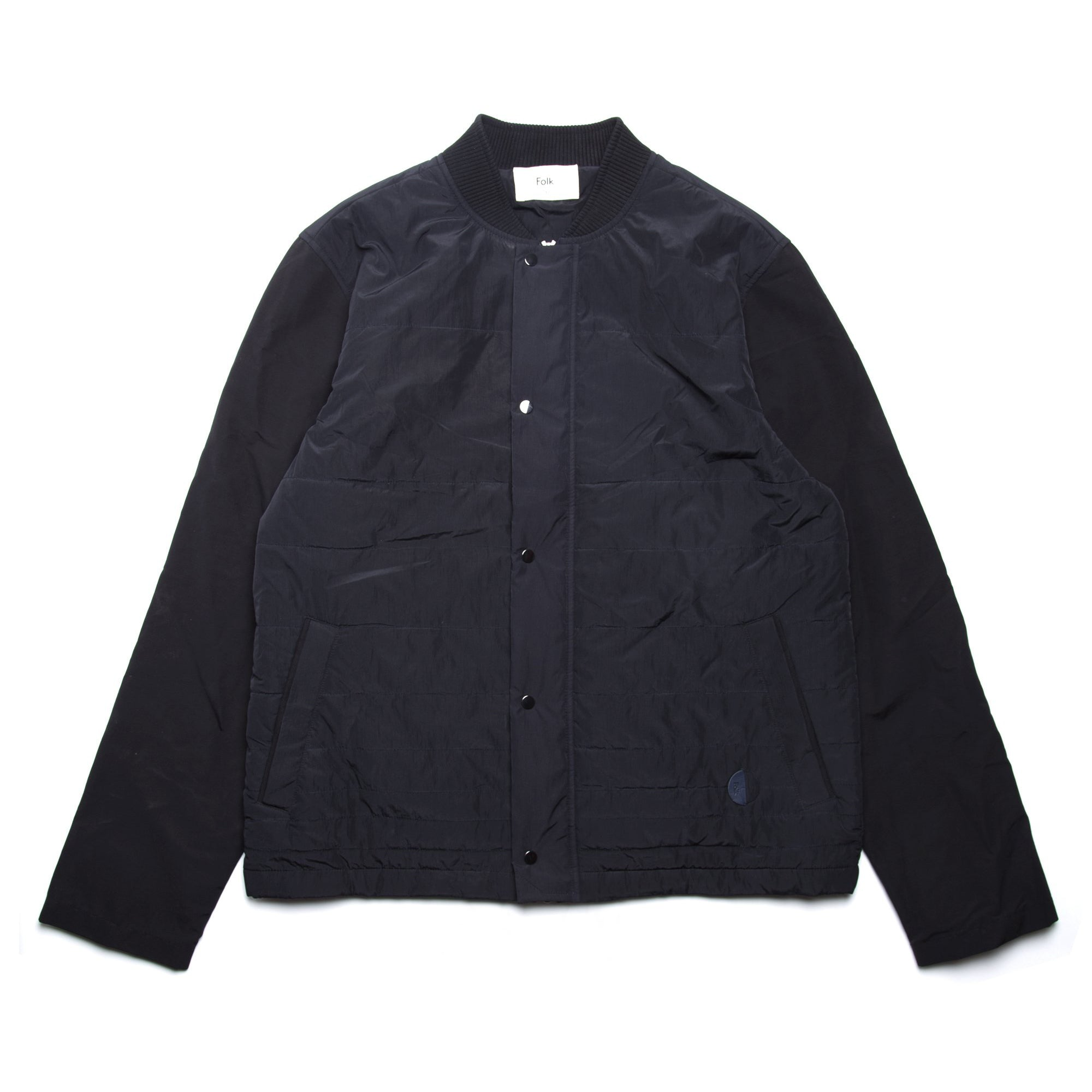 Wadded Contour Jacket - Black