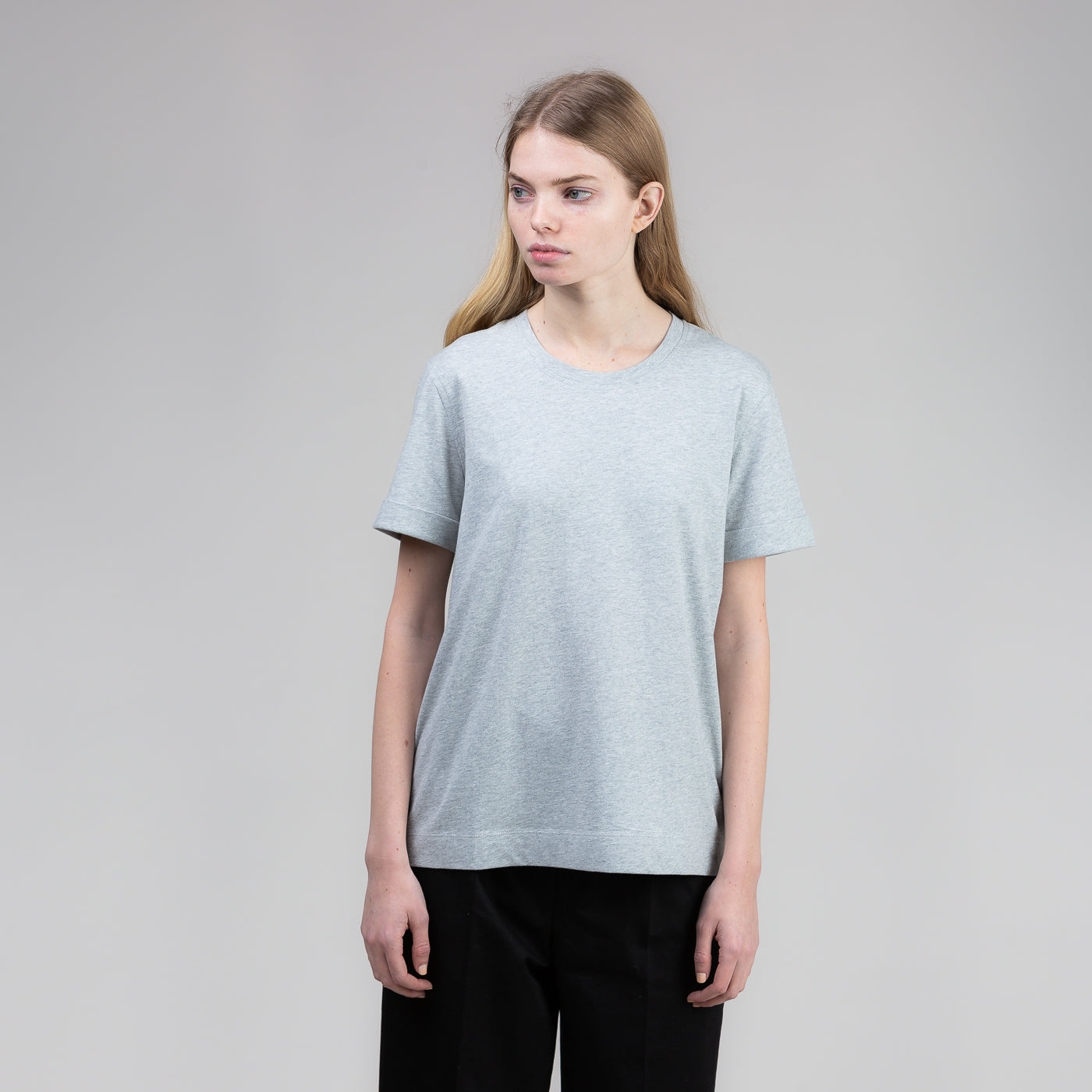 Multi Stitch Tee - Grey Melange