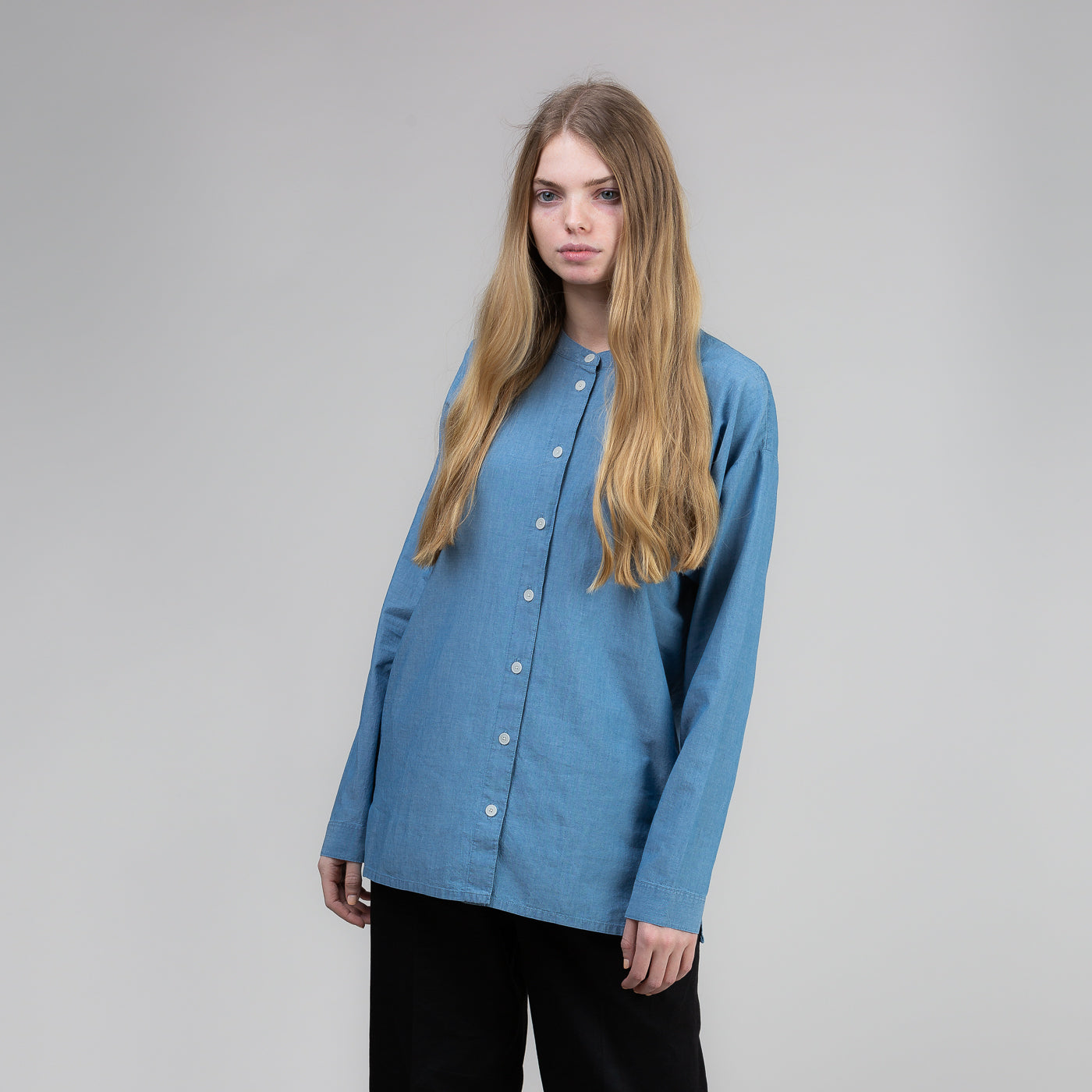 Drop Yoke Shirt - Bleached Denim