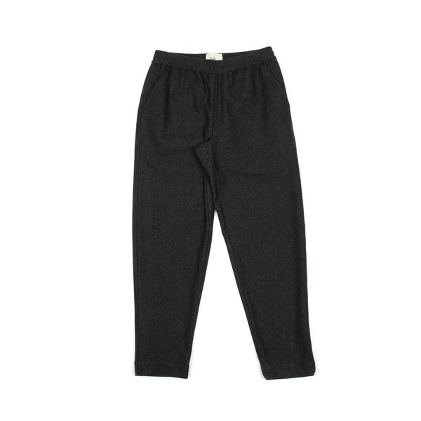 Drawcord Signal Pant - Charcoal Twill Wool