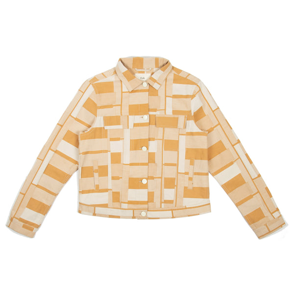 Outline Jacket - Marigold Jacquard