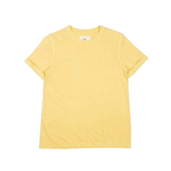 Multi Stitch Tee - Light Gold