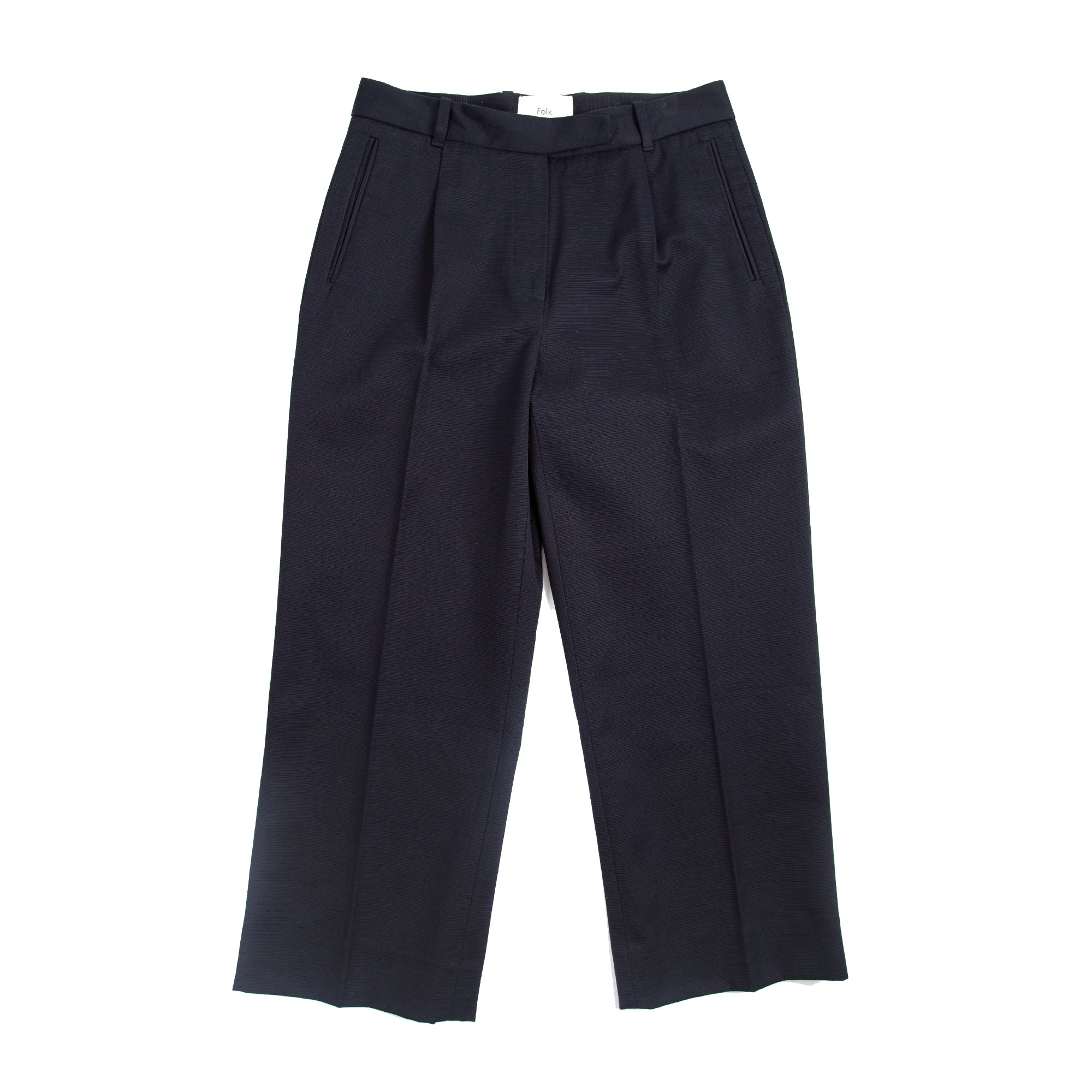 Wide Pant - Navy Texture