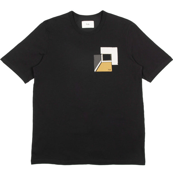 Border Tee - Black Tan