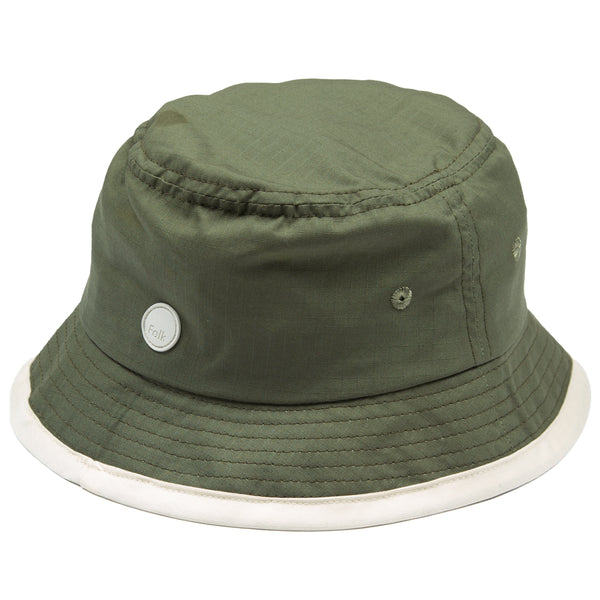 Border Bucket Hat - Olive Ripstop