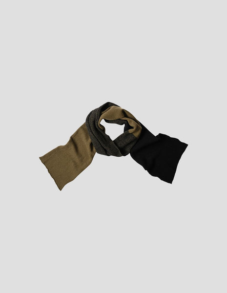 MHL - Blended Colour Scarf Geelong - Olive/Black