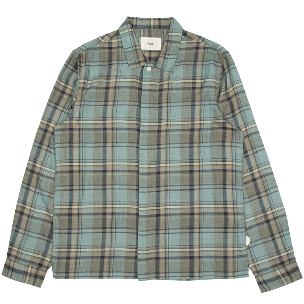 Patch Shirt - Olive Multi Check