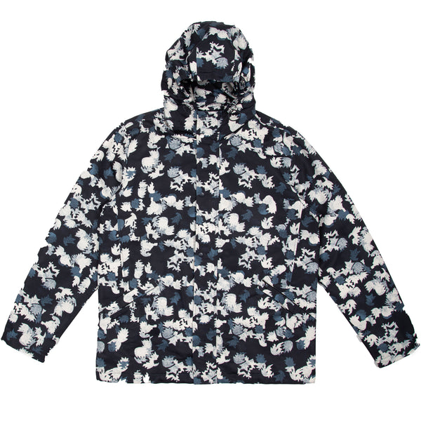 Storm Jacket - Leaf Print Navy