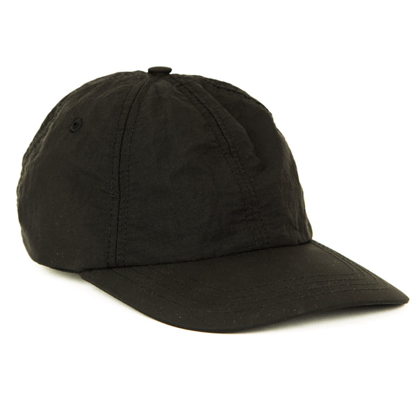 6 Panel Hat - Soft Black Nylon
