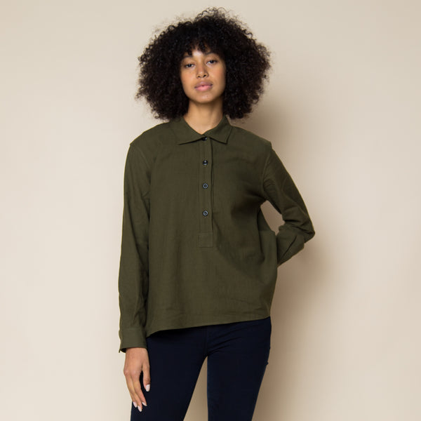 MHL - Collared Swing Shirt - Khaki
