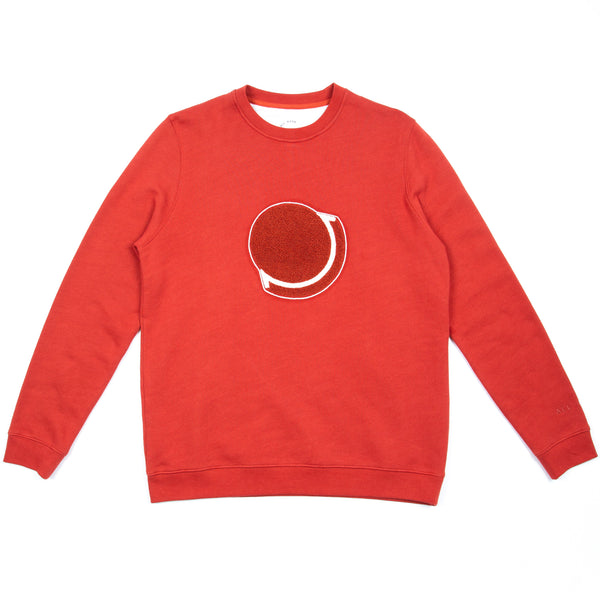Embroidered Sweat - Red