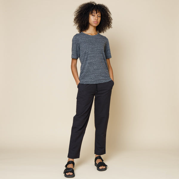 Cotton Cupro Tee - Charcoal Melange