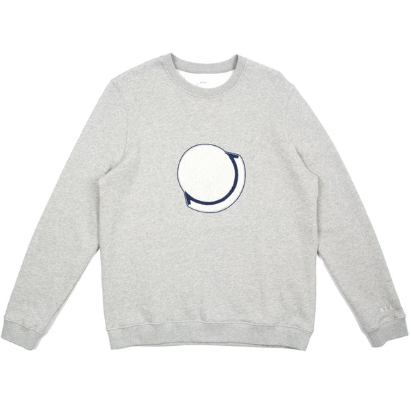 Embroidered Sweat - Grey Melange