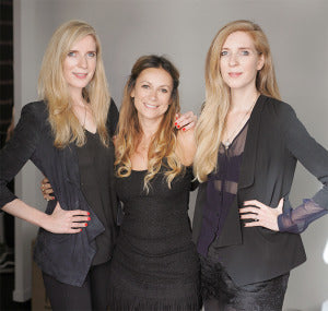 Nailberry founder Sonia with the twin fashion designers.