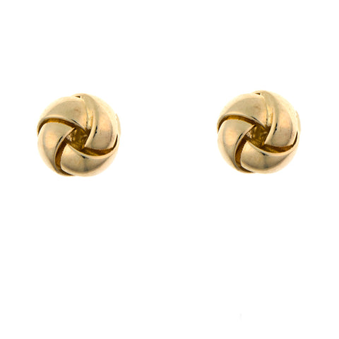 14K Twisted Knot Post Earrings