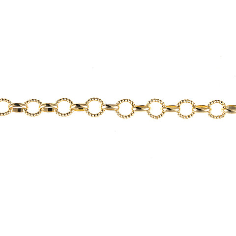 Sweet and Petite 14K Yellow Gold Ropey Rolo Necklace