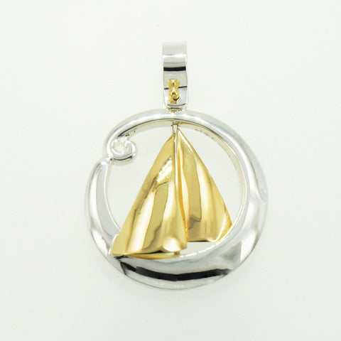 Sails and Wave Pendant