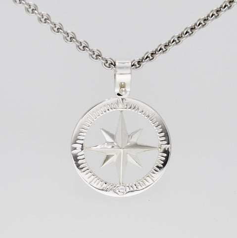 Compass Rose Classic Women's Grande Sterling Silver Pendant