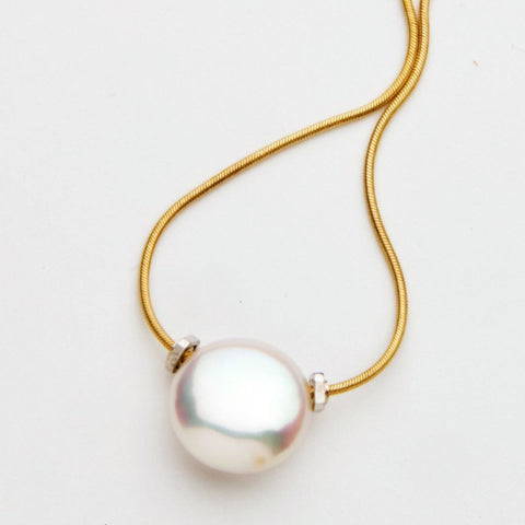 Caribbean Dreams Women's Single Coin Pearl Necklace