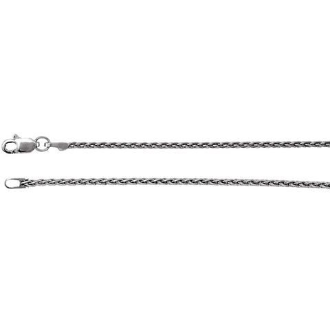 Sterling Silver Wheat Chain 1.5mm with Lobster Claw Clasp