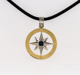 Compass Rose Classic Men's Grande 14K Two-Tone Gold Pendant
