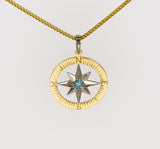 Compass Rose Classic Women's Grande 14K Two-Tone Gold Pendant