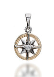 Compass Rose Classic Women's Medium on Frame 14K Two-Tone Gold Pendant