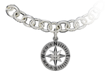 Compass Rose Coordinates Collection Link Bracelet