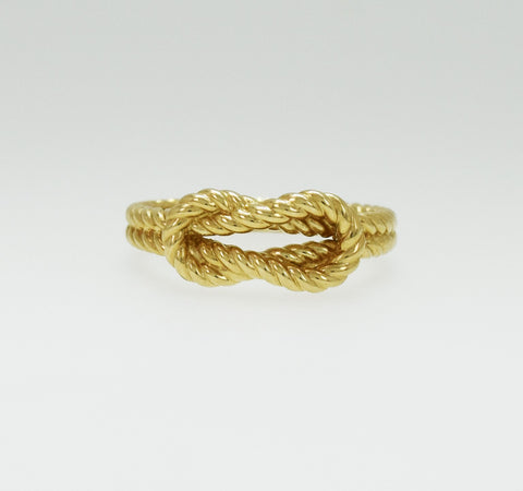Women's 14K Gold Small Rope Knot Ring
