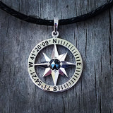 Compass Rose Coordinates Collection Men's Grande Sterling Silver Pendant