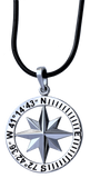 Sachem's Head Yacht Club Compass Rose Coordinates Jewelry in Sterling Silver