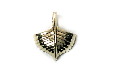 Wooden Boat Men's 14K Yellow Gold Pendant