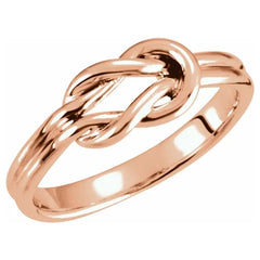 Women's 14K Gold  Petite Square Knot Ring
