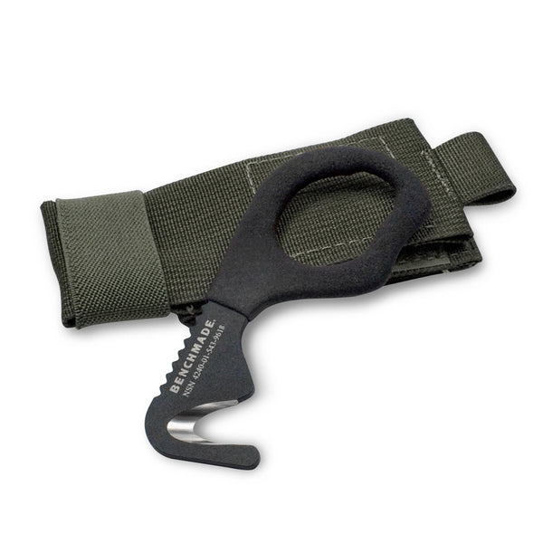 BenchMade Safety Cutter Rescue Tool 7 Hook- OD Green