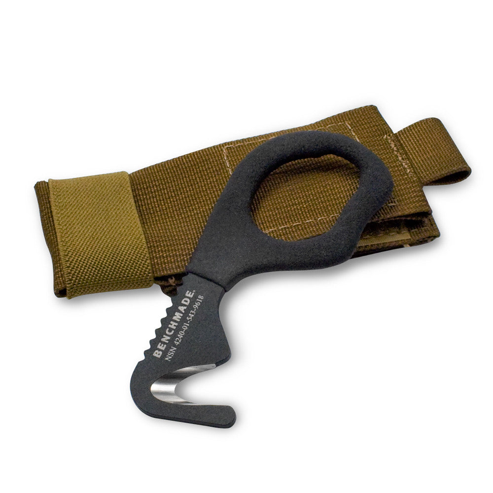 BenchMade Safety Cutter Rescue Tool 7 Hook- Coyote