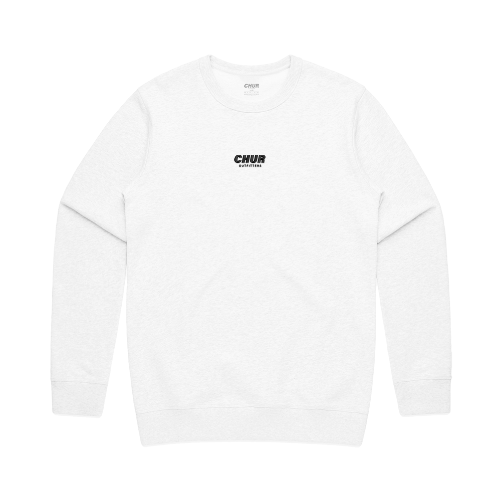 Chur Chapter Fleece Sweatshirt - White