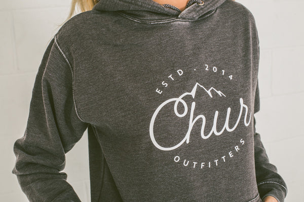 Chur Aosta Washed Hoodie - Charcoal
