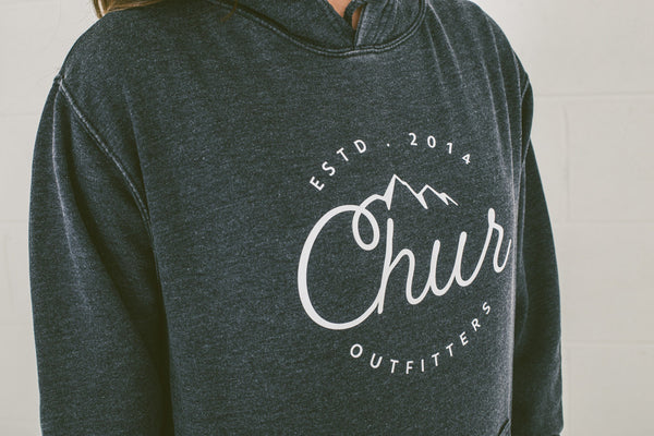 Chur Aosta Washed Hoodie - Navy