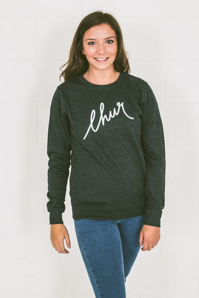 Chur Florey Jumper - Heather Black