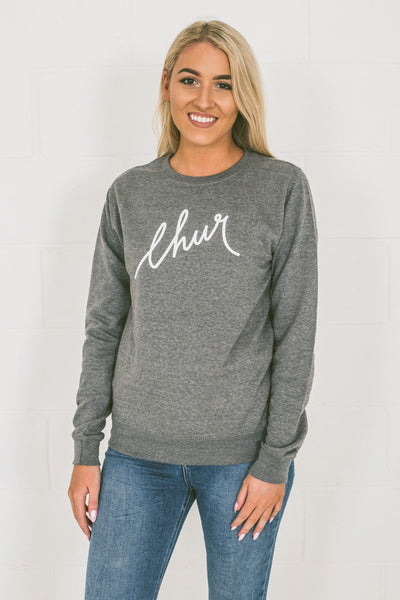Chur Florey Jumper - Heather Grey