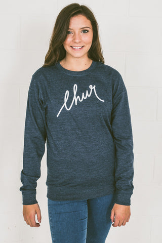 Chur Florey Jumper - Heather Navy