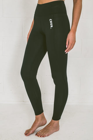 Chur Giralang Performance Leggings - Charcoal